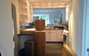 Boxes in kitchen - moving